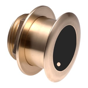 Bronze Tilted Thru-hull Transducer with Depth & Temperature (20° tilt, 8-pin) - Airmar B175L