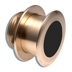 Bronze Tilted Thru-hull Transducer with Depth & Temperature (12° tilt, 8-pin) - Airmar B164