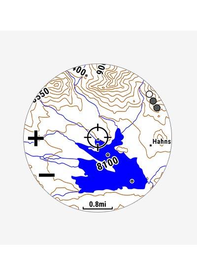 プリロード済みの地形図