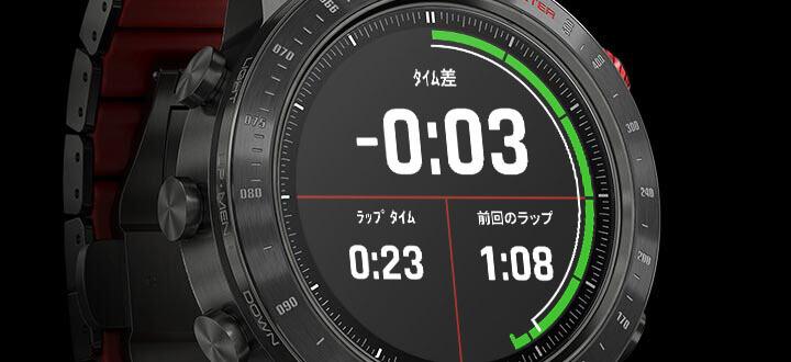 レーシングアプリを使って世界中のレーストラックデータを表示したり、GPSベースの自動ラップ分割やライブデルタタイムを計算できます。