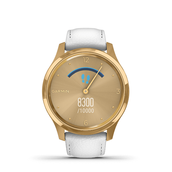 vívomove Luxe White Leather / 24K Gold PVD